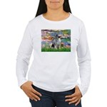 Lilies / Keeshond Women's Long Sleeve T-Shirt