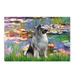 Lilies / Keeshond Postcards (Package of 8)