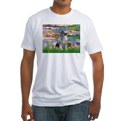 Lilies / Keeshond Fitted T-Shirt
