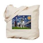 Starry / Keeshond Tote Bag