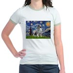 Starry / Keeshond Jr. Ringer T-Shirt
