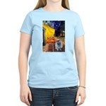 Cafe / Keeshond (F) Women's Light T-Shirt