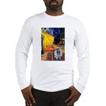 Cafe / Keeshond (F) Long Sleeve T-Shirt