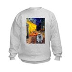 Cafe / Keeshond (F) Kids Sweatshirt