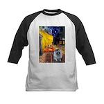 Cafe / Keeshond (F) Kids Baseball Jersey