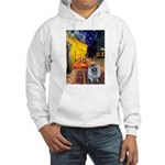 Cafe / Keeshond (F) Hooded Sweatshirt