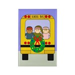 School Bus Christmas Rectangle Magnet (10 pack)