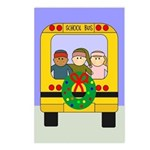 School Bus Christmas Postcards (Package of 8)