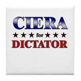 CIERA for dictator Tile Coaster