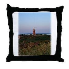 Sunset Lighthouse Throw Pillow