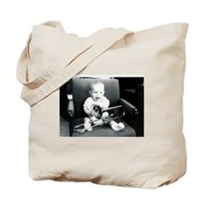 baby with trombone Tote Bag