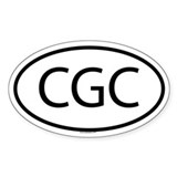 CGC Oval Decal