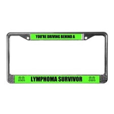 Lymphoma Survivor License Plate Frame