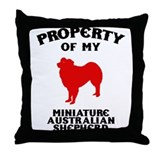 Miniature Australian Shepherd Throw Pillow