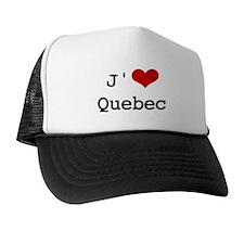 J' [heart] Quebec Trucker Hat