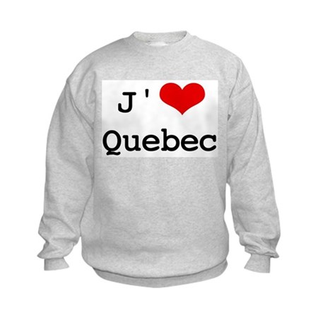 J' [heart] Quebec Kids Sweatshirt