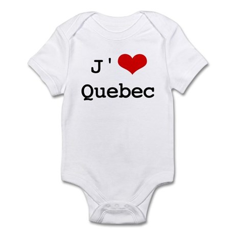 J' [heart] Quebec Infant Bodysuit