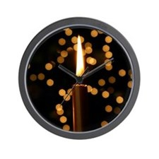 Christmas Candle Wall Clock