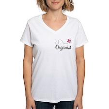 Cute Organist Women's V-Neck T-Shirt