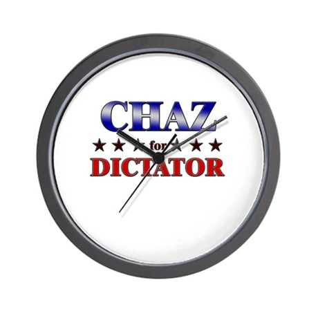 CHAZ for dictator Wall Clock