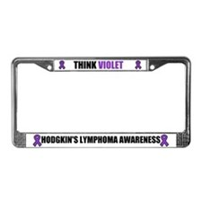 Think Violet Hodgkin's Disease License Plate Frame