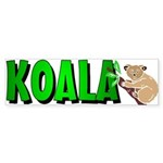 Koala Bumper Sticker