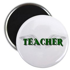 Angel Wings Teacher Magnet