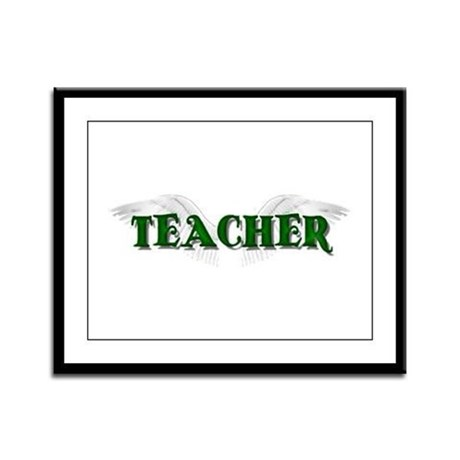 Angel Wings Teacher Framed Panel Print