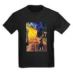 Cafe /Min Pinsche Kids Dark T-Shirt