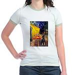Cafe /Min Pinsche Jr. Ringer T-Shirt