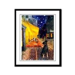 Cafe /Min Pinsche Framed Panel Print