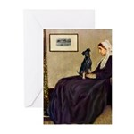 Whistler's / Min Pin Greeting Cards (Pk of 10)