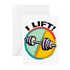 I LIFT Barbell Greeting Cards (Pk of 10)