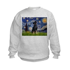 Starry / Min Pinscher Kids Sweatshirt