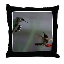 Hummingbird Pillows Throw Pillow