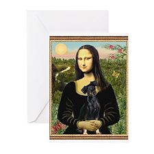 Mona / Min Pinscher Greeting Cards (Pk of 20)
