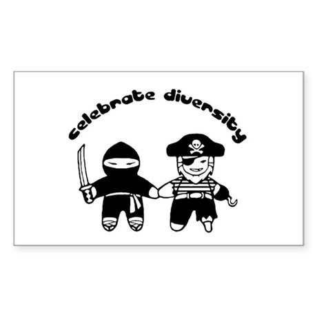 Celebrate Diversity rectangular sticker