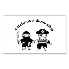 Celebrate Diversity rectangular sticker