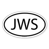 JWS Oval Decal