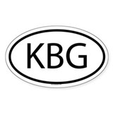KBG Oval Decal