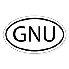 GNU Oval Bumper Stickers