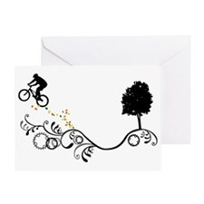 Unique Bike jump Greeting Card
