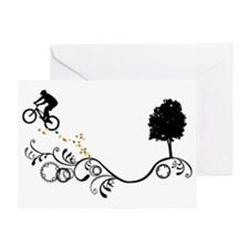 Cute Bike jump Greeting Card