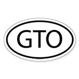 GTO Oval Decal