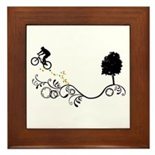 Cute Bicycles Framed Tile