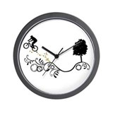 Unique Mountain biking Wall Clock