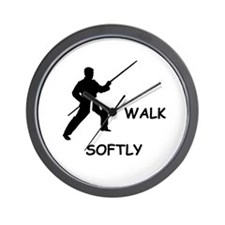Walk Softly Wall Clock