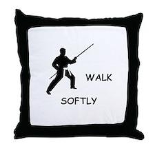 Walk Softly Throw Pillow