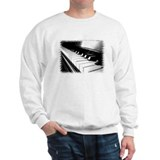Down The Piano Keys (B&W) Sweatshirt