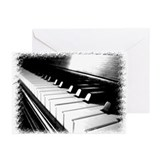 Down The Piano Keys (B&W) Greeting Cards (Pk of 20